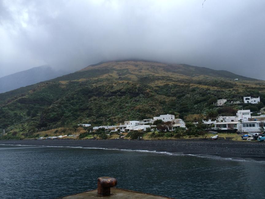Arrivée sur l'ile du Stromboli