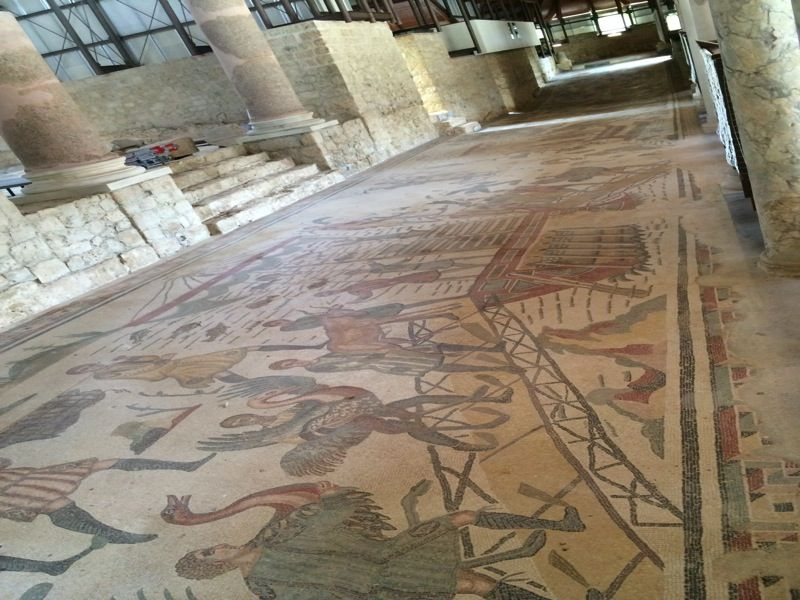 mosaique villa romaine de casale piazza armerina