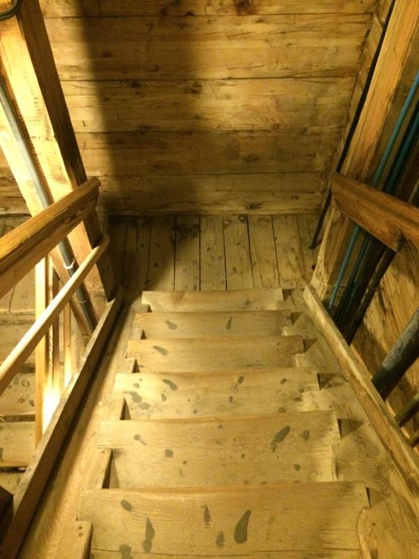 Escalier, mine de sel de Wieliczka