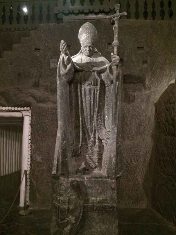 Sculture de Jean Paul II, Mine de Sel de Wieliczka