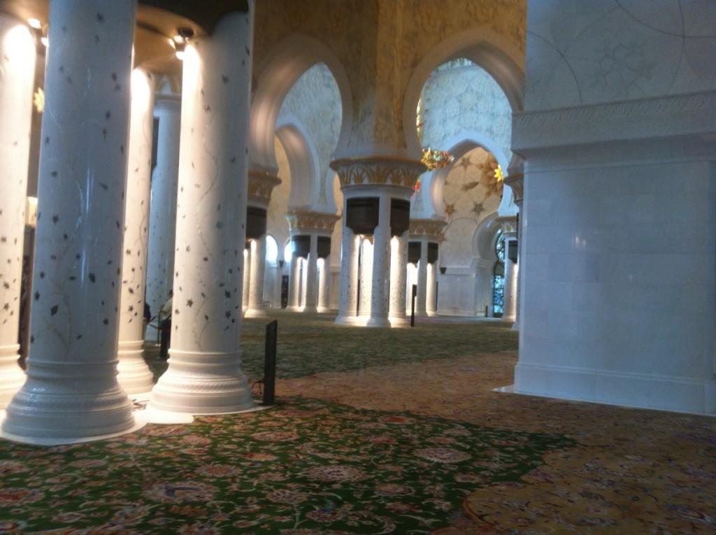 interieur mosquee abu dhabi