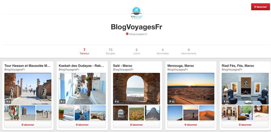 pinterest Blogvoyages