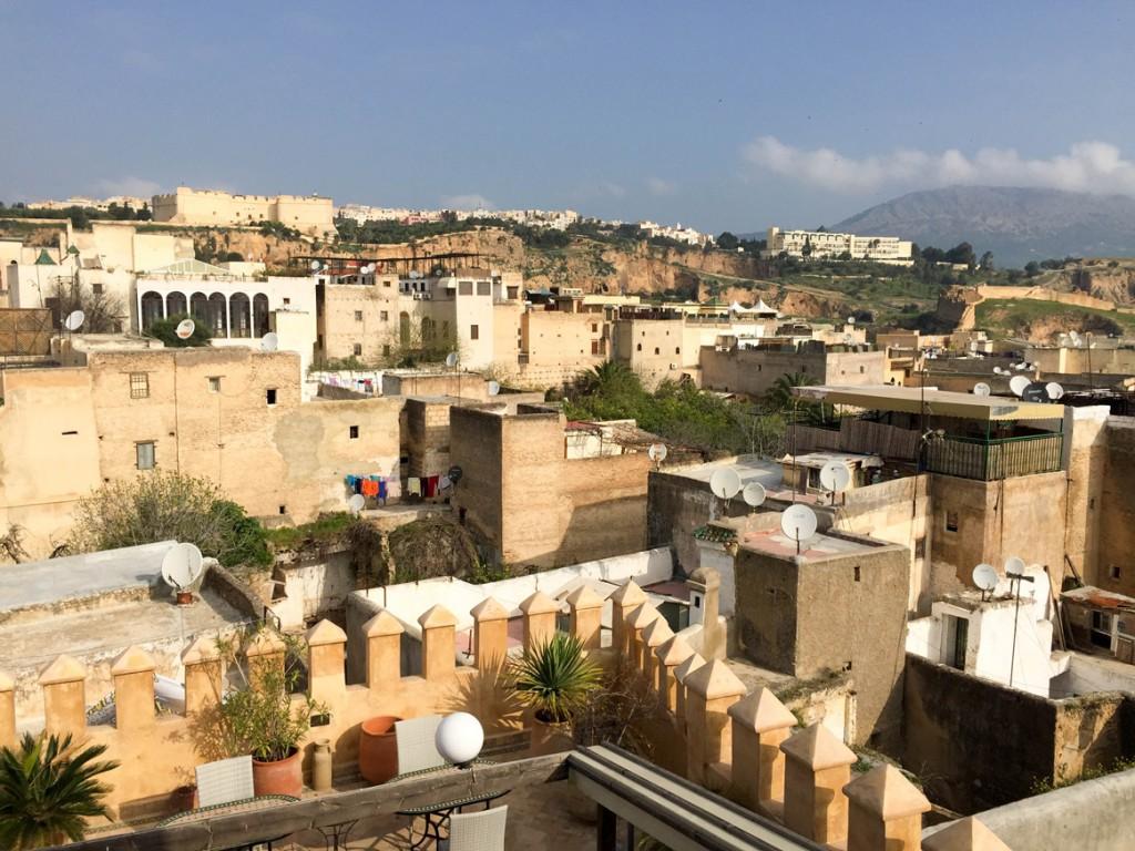 Vue de la terrasse du Riad Adarissa