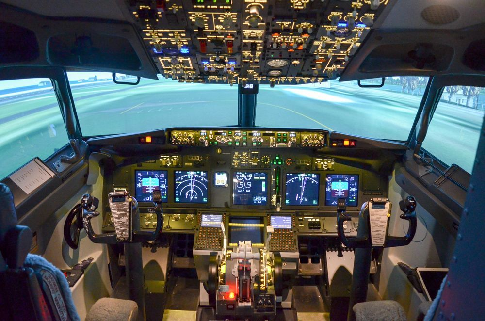 Cockpit-Simulateur avion