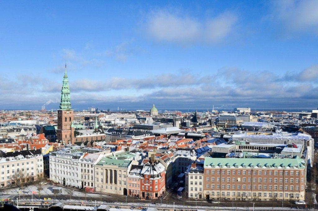 Vue Copenhague depuis Christiansborg Palace