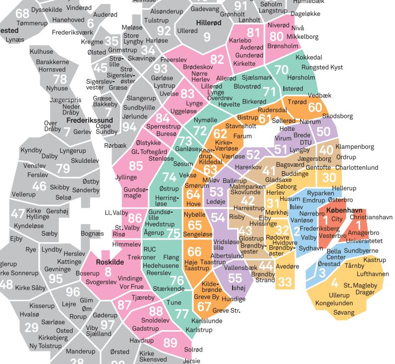 zone -Copenhague