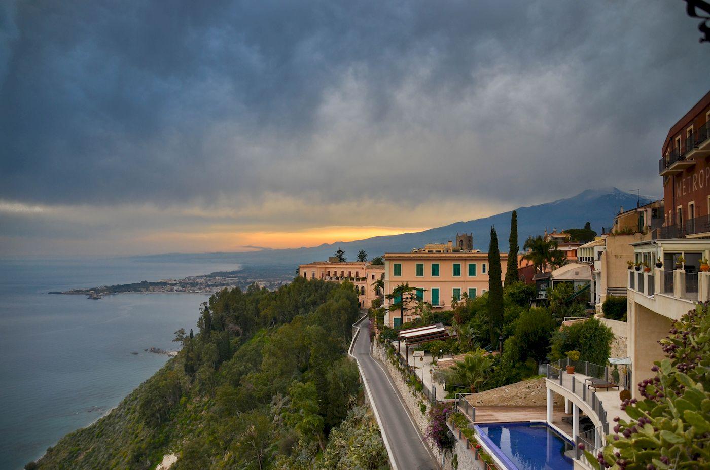 Vue Etna Taormina