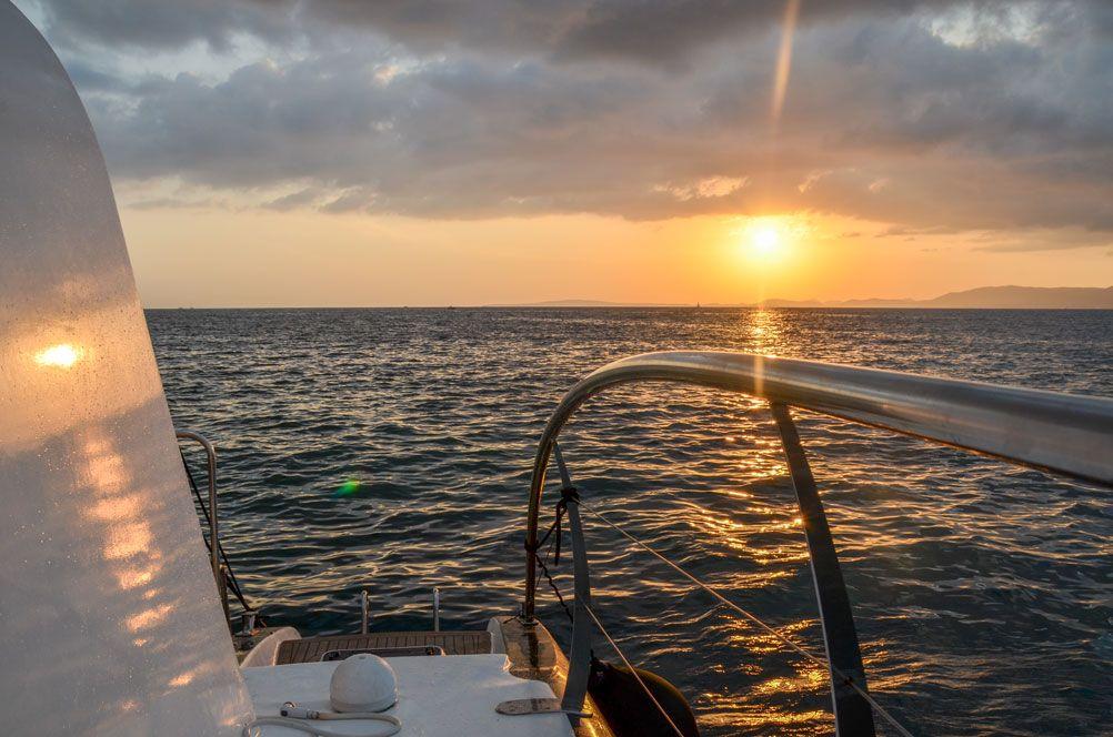 catamaran palma majorque coucher de soleil