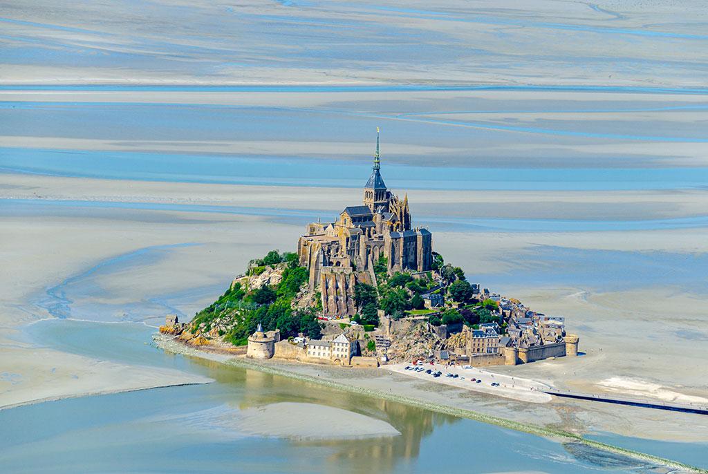 Visiter Mont Saint Michel - Vue survol ULM