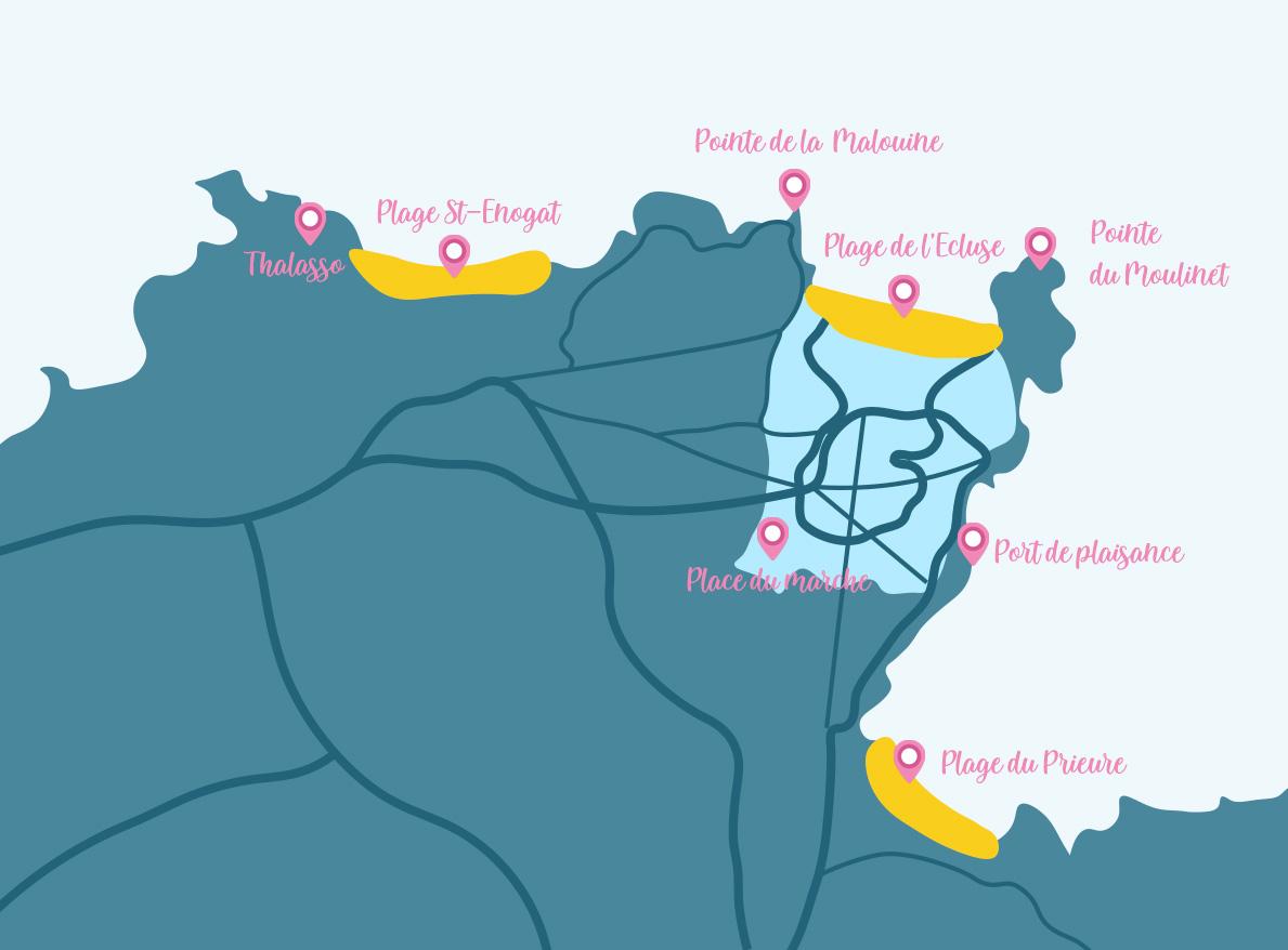 Plan de Dinard