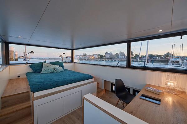 Logement Insolite Bretagne - Houseboat Sea Loft