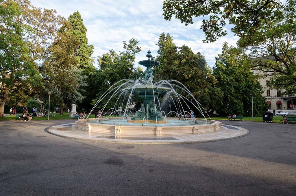 Jardin des Anglais visiter Genève