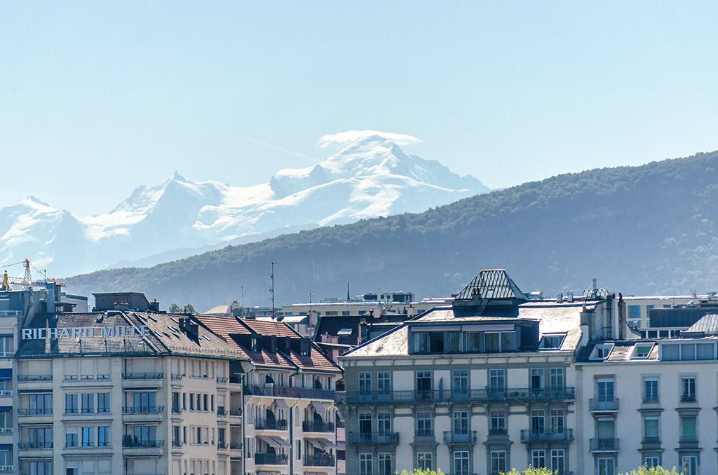 Vue Mont-Blanc Genève