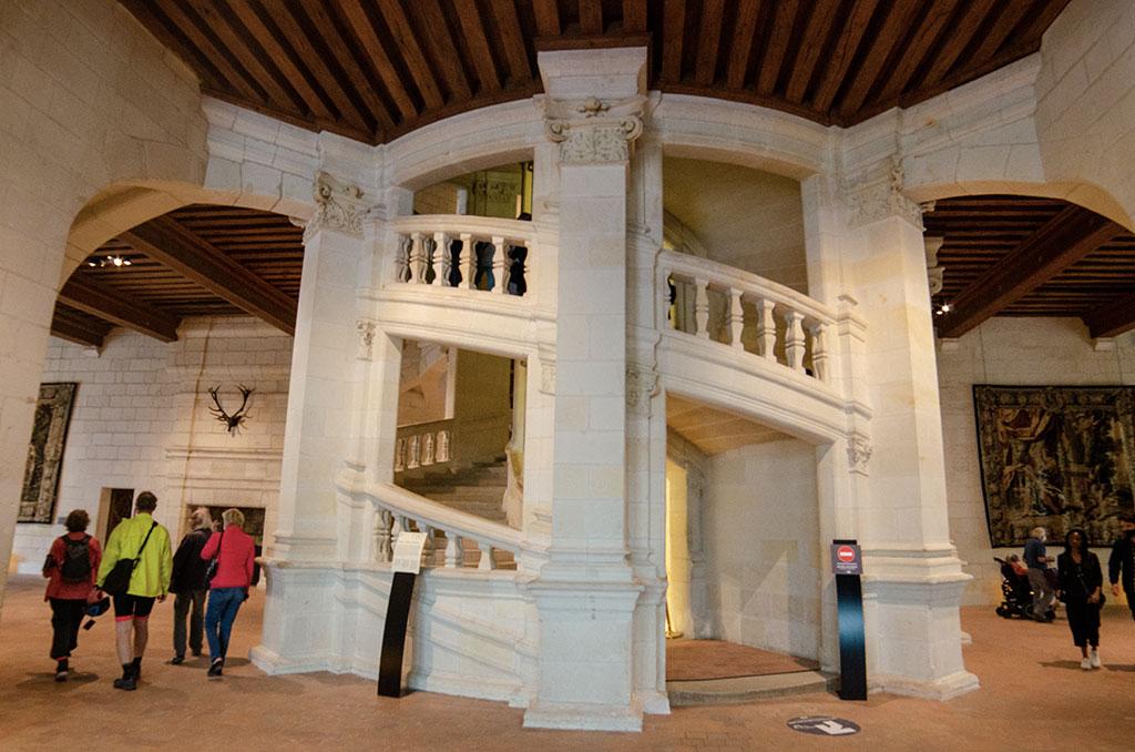 Visiter Château Chambord - Escalier double révolution